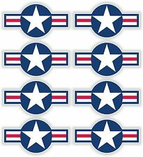 8x US Air Force Star Stickers Sticker decal United States Airstar Blue Airstars