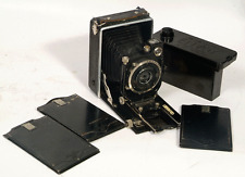 Vintage RODENSTOCK 6 x 9 Folding Plate Camera + holders and Processing Tank