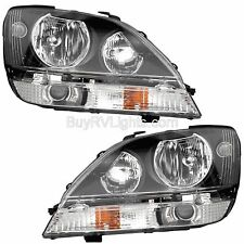 AMERICAN COACH REVOLUTION 2012 2013 BLACK PAIR HEADLIGHTS HEAD LAMPS FRONT RV