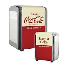 "TableCraft Coca-Cola ""Have a Coke"" 1/2 Size Napkin Dispenser / Holder"