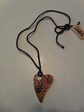 New Nordstrom Long Chain Fashion Jewelry with Snake Leather Pedant Necklace