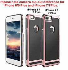 Shockproof Hybrid Hard Case Thin Cover For iPhone 6 6s 7 Plus + Tempered Glass