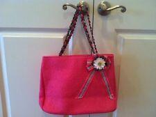 NWT, Goldie summer Purse Handbag Pink Floral Chain Ribbon Straps tote