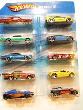 HOT WHEELS 2010 10 CAR PACK  BUGATTI  VEYRON PORSCHE LINCOLN PONTIAC BUICK
