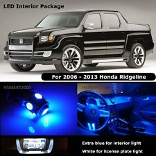 17PCS Blue Interior LED Bulbs For 2006-2013 Honda Ridgeline White for License