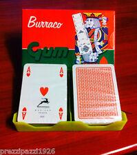 2 MAZZI Carte francesi da gioco poker ramino scala 40 BURRACO MODIANO plastifica