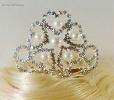 "1 STAR/HEARTS TIARA~Pearls & Rhinestones Size #4. For 18"" tall dolls and Larger"