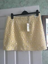 Bnwt River Island Lemon Cut Out Flower Design Skirt-size 16
