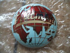 TRIUMPH ENAMEL GLOBE HUB CAP BADGES MEDALLION (FREE UK POST)