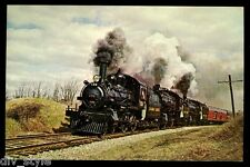 Canadian Pacific #136 steam locomotive train postcard