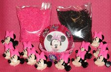 Minnie Mouse,Cupcake Kit,Rings,Sprinkles,Bake Cups,Wilton,415-6363,Black/Pink