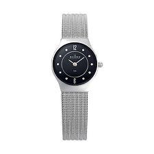 Skagen Steel Collection Black Dial Women's Watch 233XSSSB