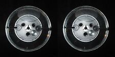 Lot of 2 Empty Reels 5 x 1/4 Plastic Blank Take Up for Audio Tape Large Hub