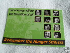 IRISH REPUBLICAN HUNGER STRIKE 1981 POSTCARD  SINN FEIN IRA