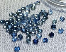 blue sapphire round facet,2.4-2.8mm, .615ct tw,(5)SA-A97,cut natural crystal