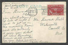 DATE 1913* Q1 PARCEL POST STAMP ON POST CARD