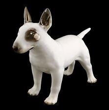 Keramik Hundefigur Bullterrier -Swarovski Kristalle - Platinlegiert