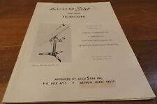 VINTAGE 1967 ACCU STAR TELESCOPE MANUAL BOOK Mapping the sky AccuStar astronomy