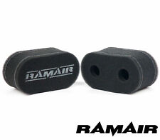 2 x RAMAIR Carb Sock Air Filters Trumpet Velocity Stack fits Weber 45 DCOE