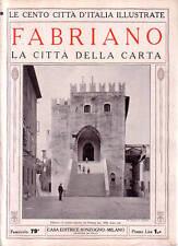 Le Cento Città d' Italia Illustrate  FABRIANO
