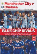 Jeunesse cup 2015 première manche Homme Ville V Chelsea menthe programmme Manchester