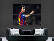 LIONEL MESSI WALL ART PICTURE POSTER GIANT HUGE BARCELONA FC  FOOTBALL