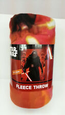 "DISNEY STAR WARS EP7 KYLO & TROOPS 46"" X 60"" FLEECE THROW BLANKET SLEEP L@@K"