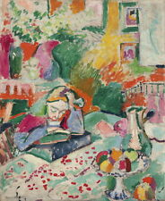 Henri Matisse Interior with a Young Girl Giclee Canvas Print Paintings Poster Re