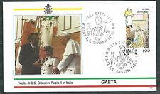 1989 VATICANO VIAGGI DEL PAPA GAETA - SV2