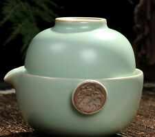 China Ru Kiln Kung Fu Tea Set Ceramic Travel A Pot Of A Cup Quik Teacup