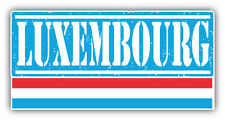 "Luxembourg Grunge Travel Stamp Car Bumper Sticker Decal 6"" x 3"""