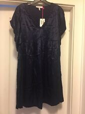 NWT See by Chloe Dress Navy Blue Silk Short Sleeve Size 6 Size 8 Size 42 Europe