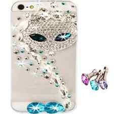 NEW 3D BLING CLEAR COOL DELUX DIAMOND DIAMANTE CAT CASE COVER FOR IPHONE 4 4S UK