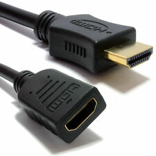1m HDMI EXTENSION Cable Male to Female v1.4 3D High Speed With Ethernet BLACK