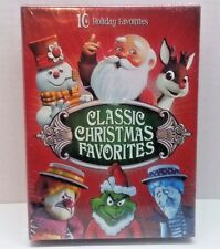 Classic Christmas Favorites (DVD, 4-Disc Set) NEW, Grinch Rudolph Frosty Santa