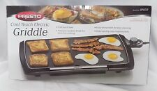 NEW IN BOX!~NIB!~PRESTO~COOL TOUCH ELECTRIC HOME GRIDDLE~07037~JUMBO~BLACK~1500W