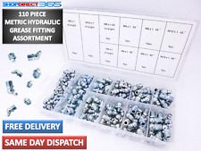 110PC Metric HYDRAULIC GREASE NIPPLE Mechanical Lubricant Assortment Fitting 428