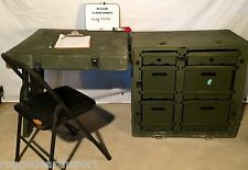 Pelican Hardigg Portable Military Field Desk USGI Army Table USA 472-FLD-DESK-TA