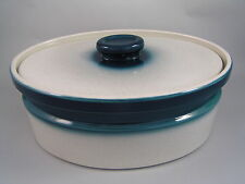 WEDGWOOD BLUE PACIFIC LARGE OVAL LIDDED CASSEROLE DISH .