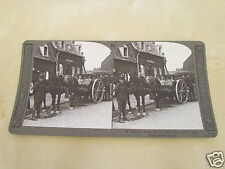 WW1 STEREOVIEW - A WELCOME DRINK AFTER A HARD DAYS WORK FROM ARMY WATER CARTS