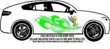 TINKERBELL GRAPHIC TRIBAL SWIRLS DESIGN DECAL GRAPHIC VINYL SIDE OF CAR OR TRUCK