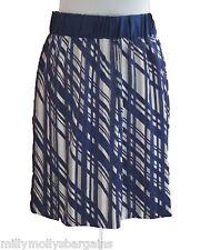 New Womens Marks & Spencer Purple Blue White Skirt Size 18