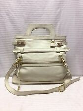 Foly and Corinna White Leather Shoulder Bag, Purse, Bag