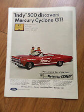 1966 Mercury Comet Cyclone GT Convertible Ad Indy 500 Pace Car