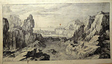 Sébastien Le Clerc Beau Paysage dans le style terrible 1673