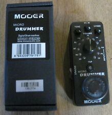 New Mooer Micro Drummer Digital Drum Machine Guitar Effects Pedal