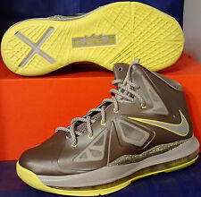 Nike Lebron X 10 Canary Yellow Diamond SZ 10 ( 541100-007 )