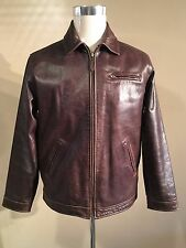 POLO RALPH LAUREN BROWN BUFFALO LEATHER JACKET SIZE XL SUPERB CONDITION