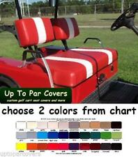 E-Z-Go Marathon Golf Cart Front & Rear Seat Cover Combo - 2 STRIPE STAPLE ON