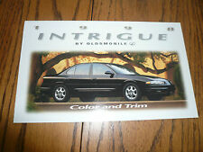 1998 Oldsmobile Intrigue Sales Color & Trim Brochure - Foldout
